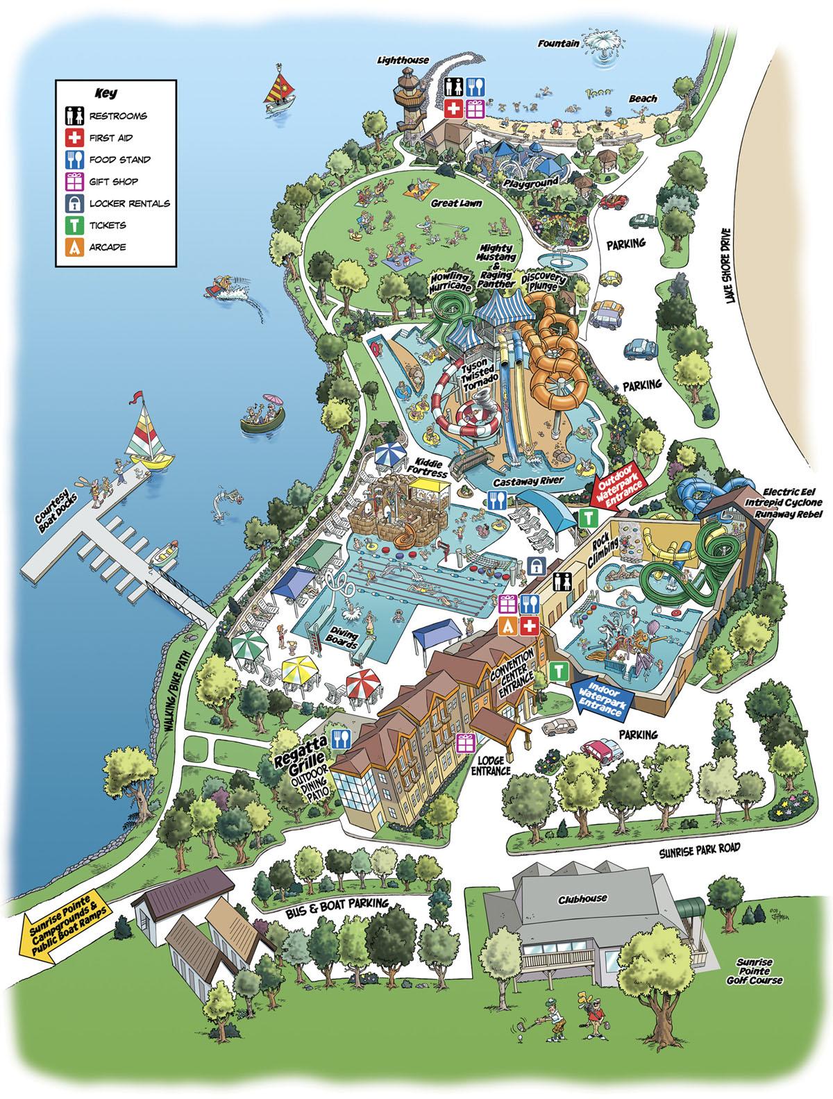 King S Pointe Storm Lake Ia Cartoon Map