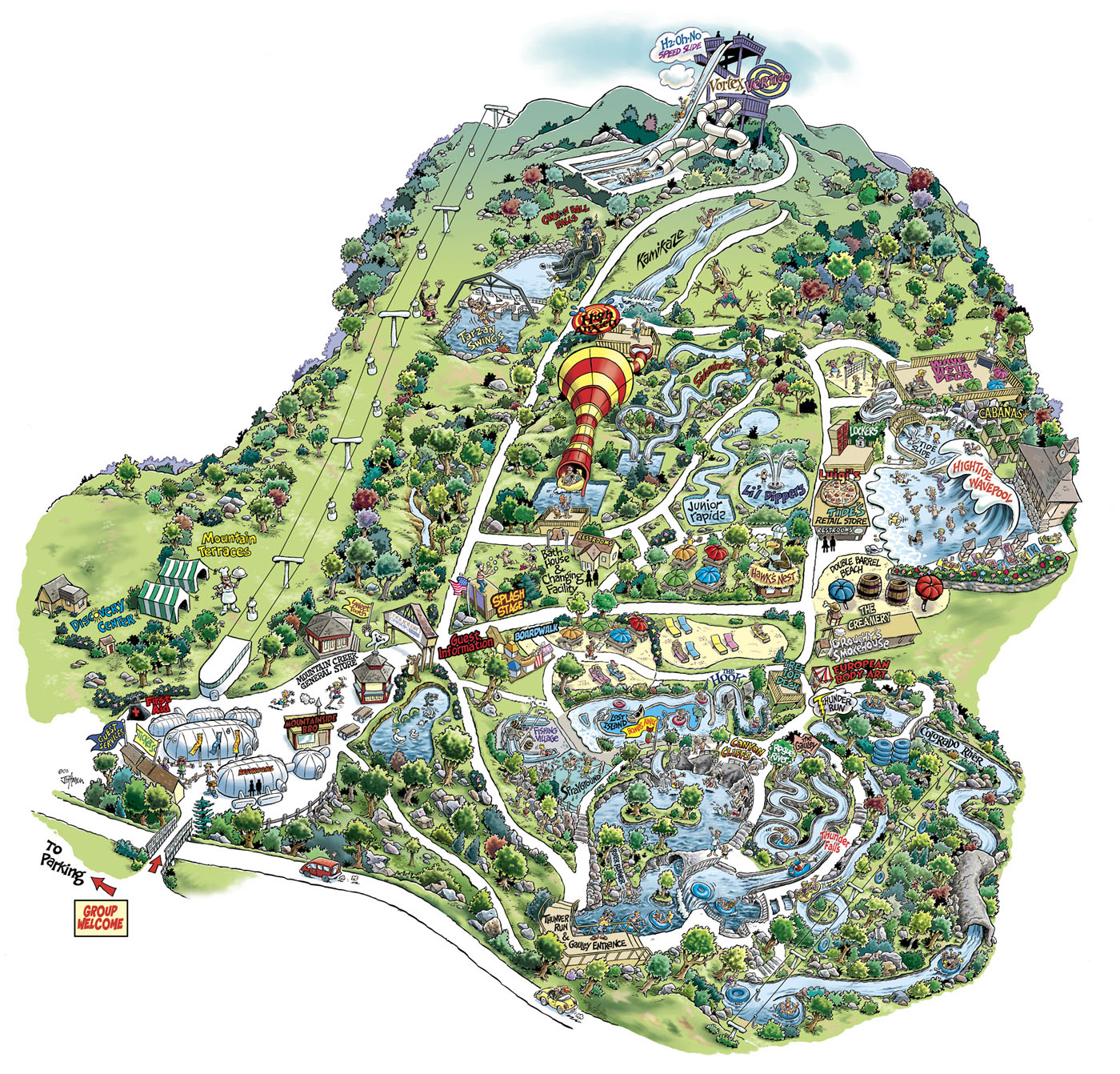 Mountain Creek Water Park Map Mountain Creek Waterpark